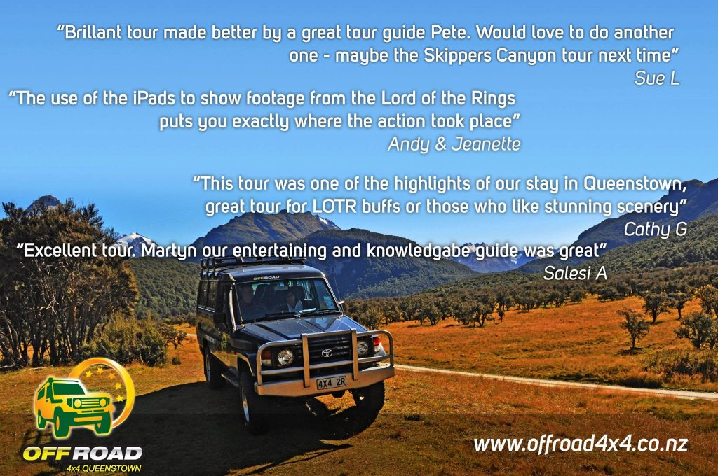 Offroad 4x4 tours, Queenstown New Zealand